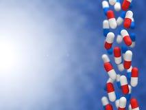 Fallande bild för pills 3d Arkivbild