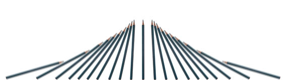 fallande blyertspennor royaltyfria bilder