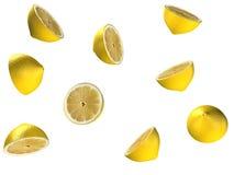 fallande citroner Royaltyfria Foton