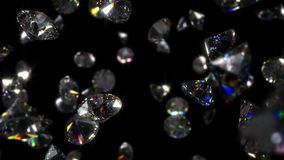 Fallande diamantbakgrundsögla lager videofilmer