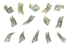 Fallande dollar. Royaltyfri Fotografi