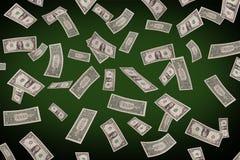 Fallande dollar på pokertabellen Royaltyfria Foton