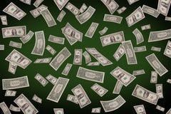 Fallande dollar på pokertabellen Royaltyfria Bilder