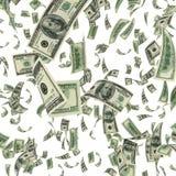 Fallande dollarBills Arkivbilder