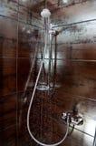 fallande duschvatten för cubicle Arkivfoton