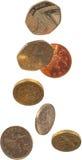 fallande ett pund sterling Royaltyfri Bild