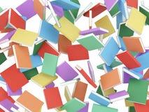 Fallande färgböcker Arkivbild