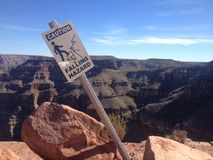 Fallande faratecken, Grand Canyon Arkivfoto