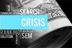fallande finansiell hastighet för krisdiagram Arkivbild