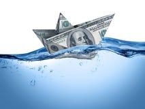 fallande finansiell hastighet för krisdiagram Arkivbilder