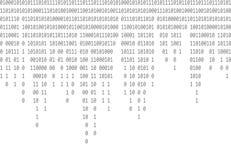 Fallande grå bakgrund för binär kod stock illustrationer