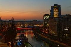 Fallande gryning över Wien Royaltyfri Bild