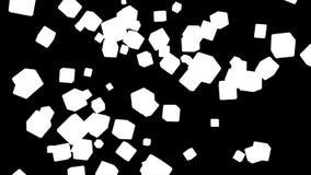 Fallande högteknologiska kuber för TV-sändning, gråton som är företags, Alpha Matte, Loopable, 4K