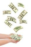 fallande handpengar Royaltyfri Bild