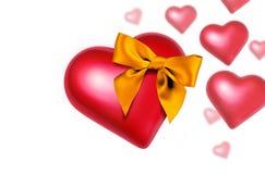 fallande hjärta för bow Arkivfoton
