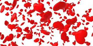 fallande hjärtor Vektor Illustrationer