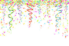 Fallande konfettier Arkivbild