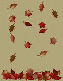 fallande leaves stock illustrationer