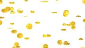 Fallande mynt - euro, valuta för europeisk union stock video