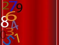 fallande nummer vektor illustrationer