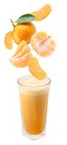 fallande nytt exponeringsglas skivar tangerinen Arkivbilder