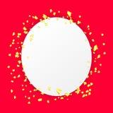 Fallande pappers- konfettiferiebakgrund Arkivbilder
