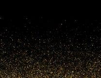Fallande partiklar p? m?rk bakgrund Ljus skiner effekt f?r din design Fallande partiklar f royaltyfri illustrationer
