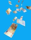 fallande pengar Royaltyfria Foton
