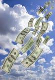 fallande pengar Royaltyfri Bild