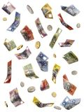fallande pengar för australier arkivfoton