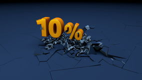 Fallande procentsatser Royaltyfri Foto