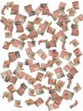 fallande pund för femtio anmärkningar Arkivbild