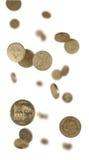 fallande pund för mynt Royaltyfri Foto