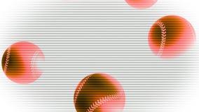 Fallande randiga baseball royaltyfri illustrationer