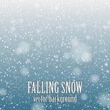 Fallande snö Arkivfoton