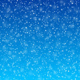 Fallande snö Arkivbilder