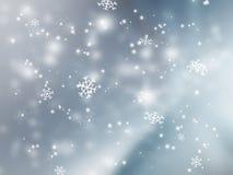 fallande snow stock illustrationer