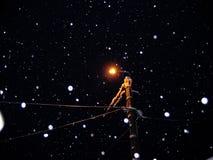 fallande snow Arkivfoto