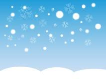 fallande snow Arkivbilder