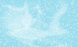 fallande snow för bakgrund Vektorillustration med snöflingor Vinter som snöar himmel stock illustrationer