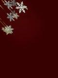 Fallande snowflakes och stjärnor Royaltyfri Foto