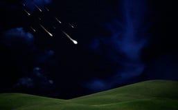 fallande stjärnor Arkivfoton