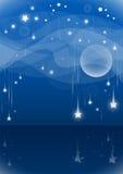 Fallande stjärnor för natt Arkivfoto