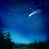 fallande stjärna Arkivfoto