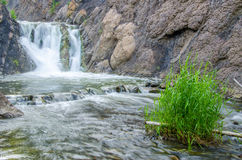 fallande vatten i morgonmisten Royaltyfria Foton