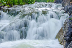 fallande vatten i morgonmisten Royaltyfri Bild