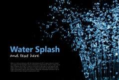 Fallande vattendroppar plaskar Fotografering för Bildbyråer