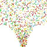 Fallande vektor för konfettier Ljus explosion som isoleras på vit Bakgrund för födelsedagen, årsdag, parti, ferie royaltyfri illustrationer