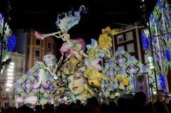 Fallas 2012 - ò em Secció especial Fotografia de Stock Royalty Free