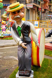 Fallas - colorful funny figures Royalty Free Stock Photography